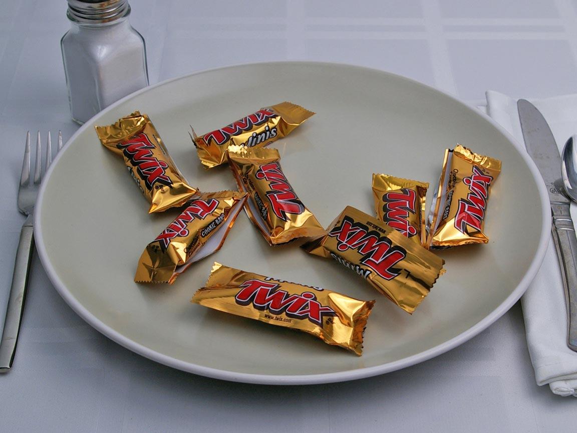 Calories in 8 piece(s) of Twix - Mini
