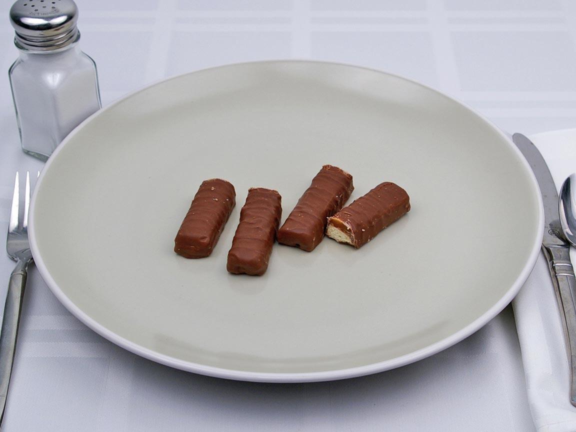 Calories in 4 stick(s) of Twix