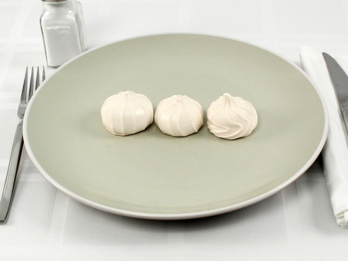 Calories in 3 piece(s) of Vanilla Meringues