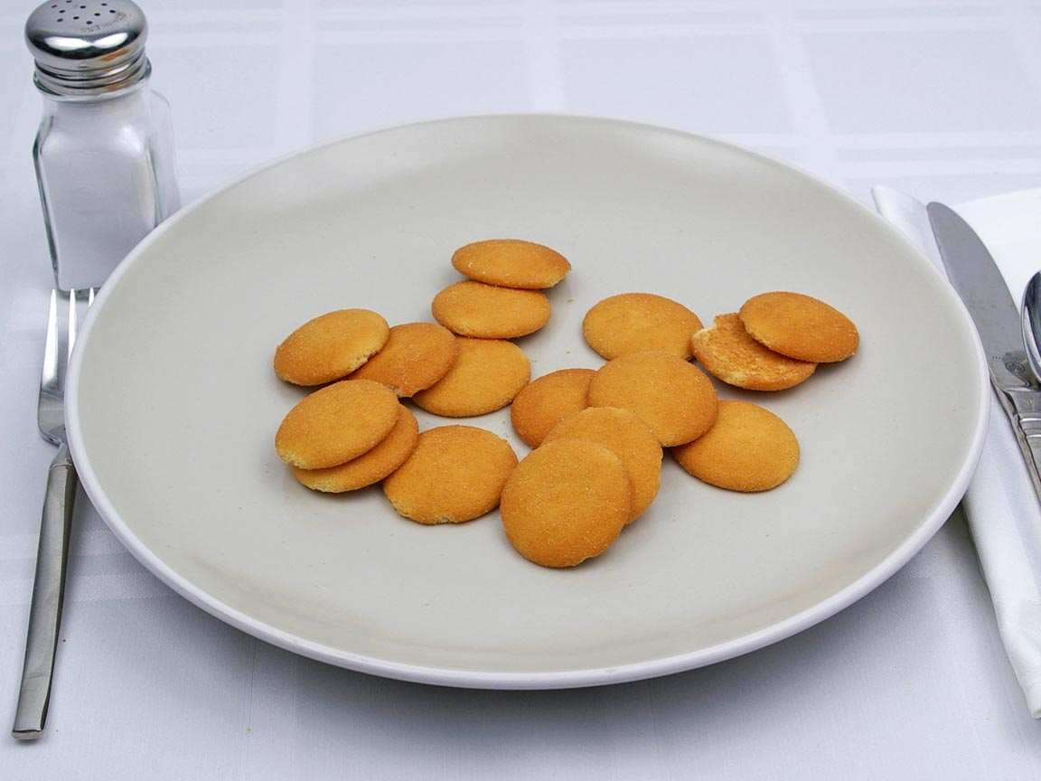 Calories in 16 wafer(s) of Nilla Vanilla Wafers Cookie