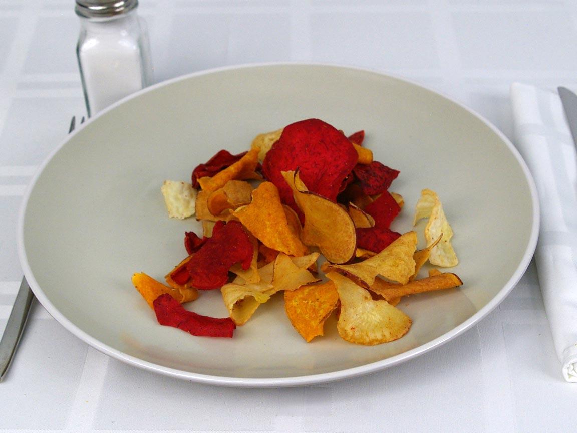 Calories in 42 grams of Terra Vegetable Chips Original