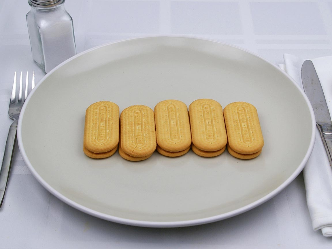 Calories in 5 cookie(s) of Vienna Fingers Cookie