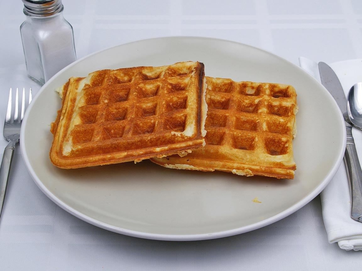 Calories in 2 waffle(s) of Waffle - Avg