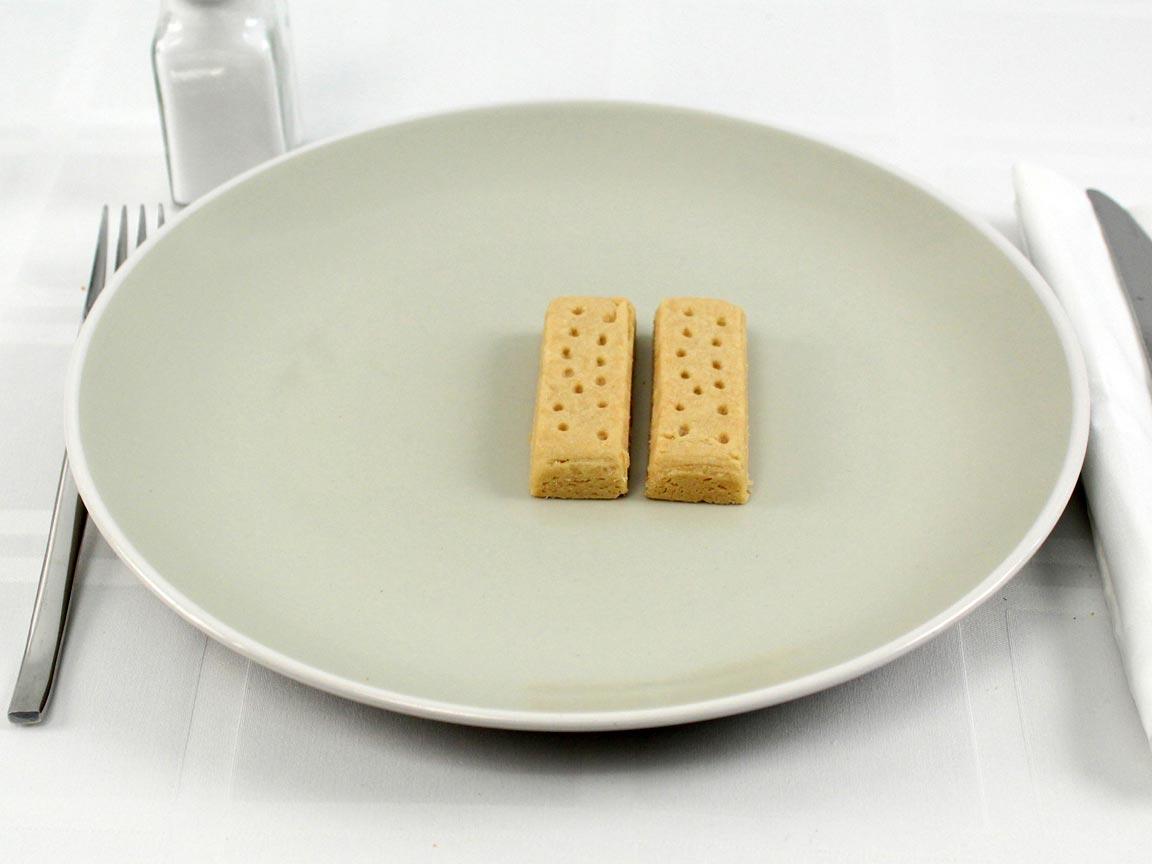 Calories in 2 cookie(s) of Walker's Shortbread Cookies