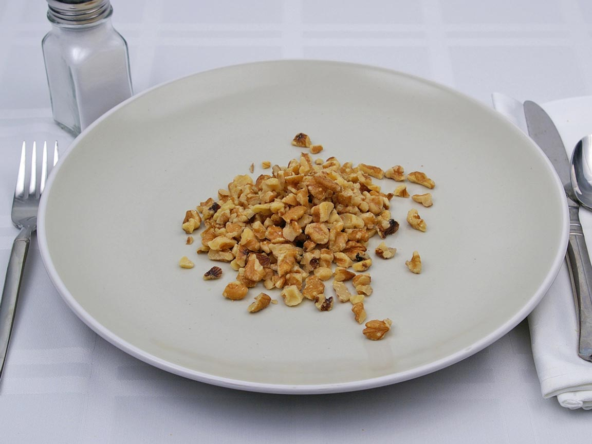 Calories in 0.5 cup(s) of Walnuts - Chopped
