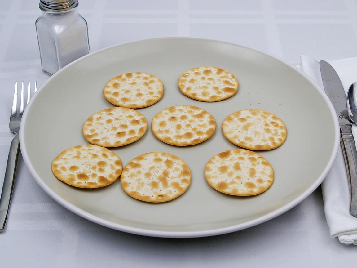 Calories in 8 cracker(s) of Carr's Table Water Crackers
