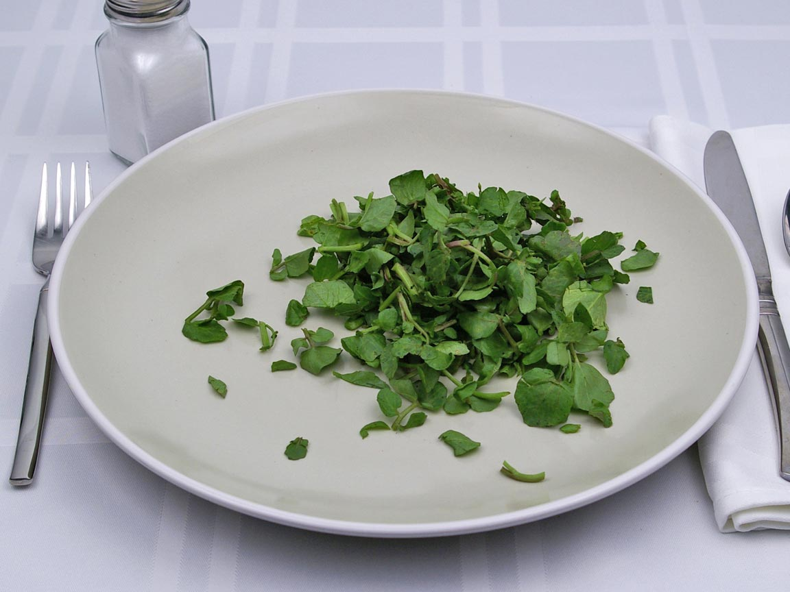 Calories in 1 cup(s) of Watercress