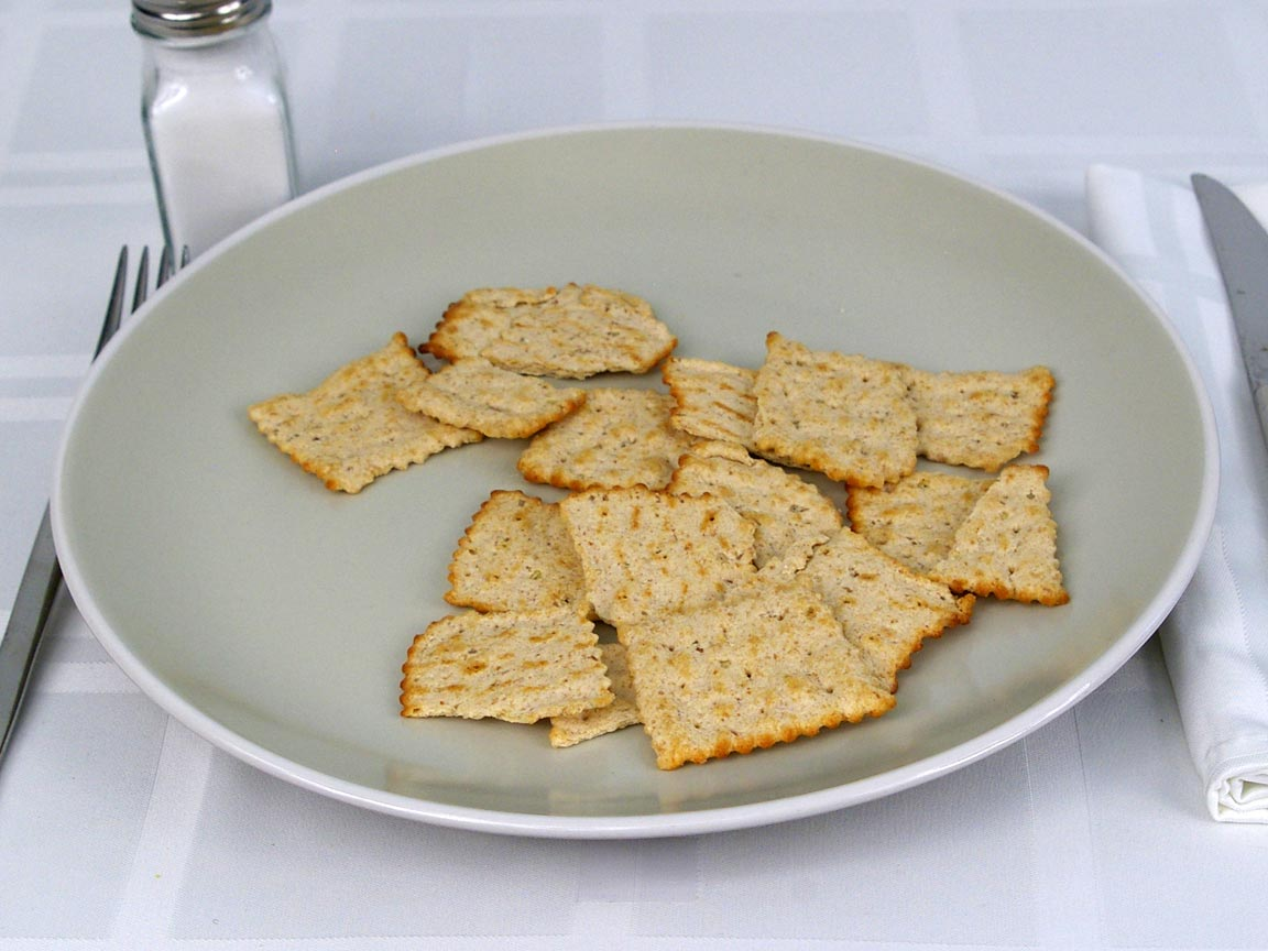 Calories in 28 grams of Wheat Thins Toasted Chips