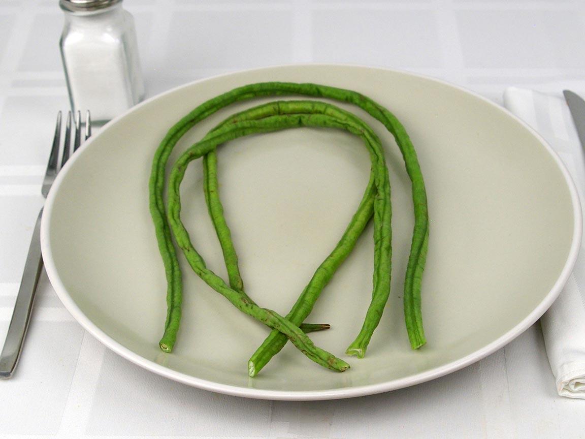 Calories in 3 bean(s) of Yardlong Beans
