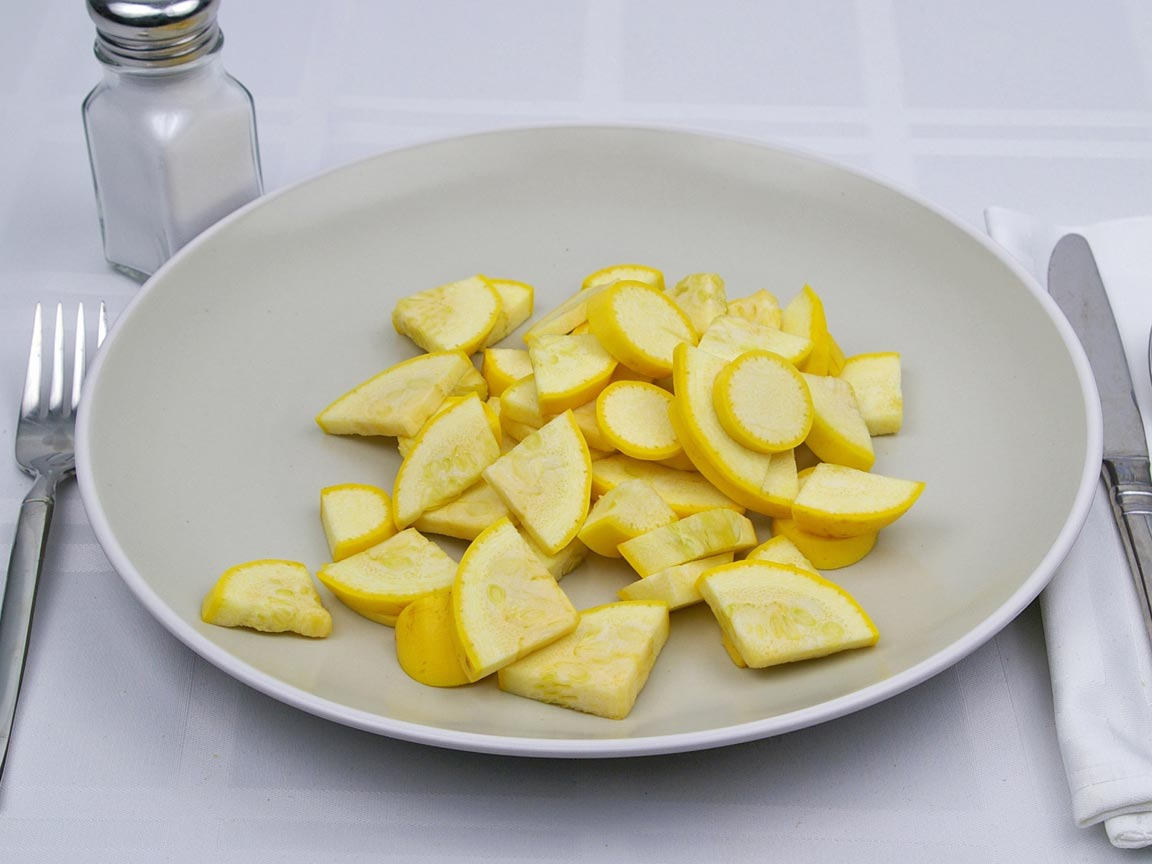 Calories in 1.5 cup of Squash - Yellow